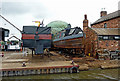 SK1411 : Boatyard near Streethay in Staffordshire by Roger  Kidd