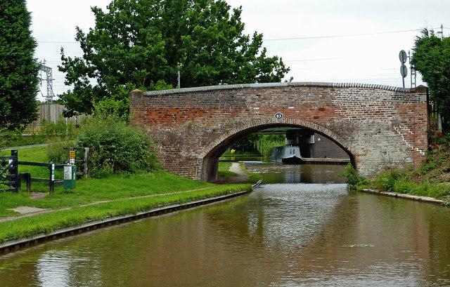 Plough Bridge at Huddlesford in Staffordshire