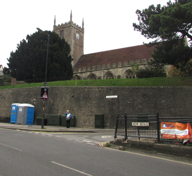 Grade I listed Parish Church of St Mary, Marlborough