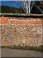 ST0207 : Cullompton: wall in Lower Mill Lane by Martin Bodman