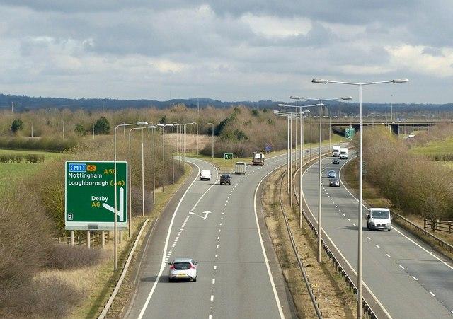 A50 and A6 interchange © Alan Murray-Rust cc-by-sa/2.0 :: Geograph ...
