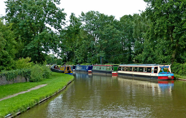 Coventry Canal at Huddlesford in Staffordshire