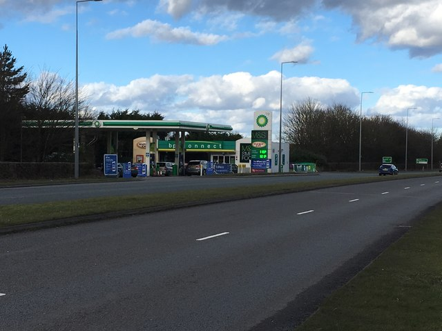 Petrol Station on Standing Way
