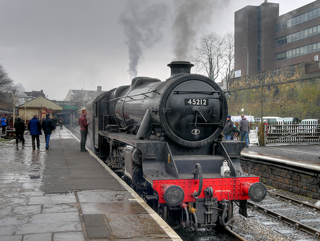 Stanier 'Black 5' at Bury, Bolton Street Station