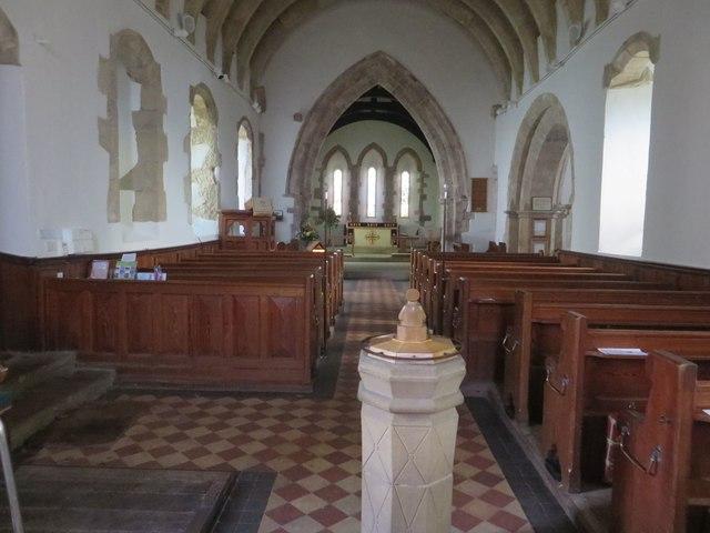 Interior of St Cuthbert's Parish Church, Bellingham