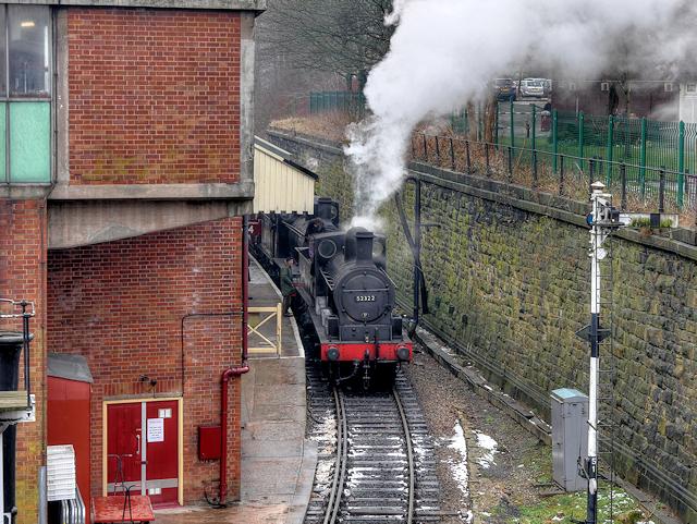 Victorian Steam Locomotive at Bury