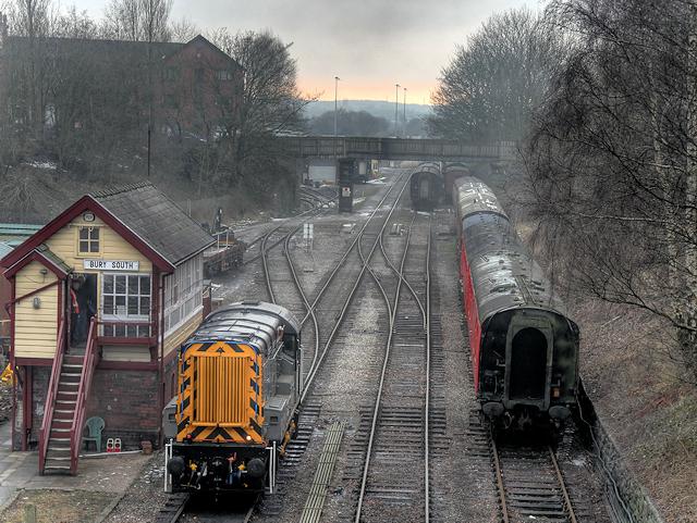 Diesel Shunter at Bury South