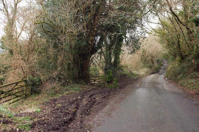 Lane near North Harton