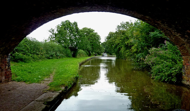Coventry Canal south-east of Huddlesford in Staffordshire
