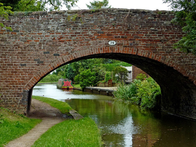 Norington Lane Bridge at Whittington in Staffordshire