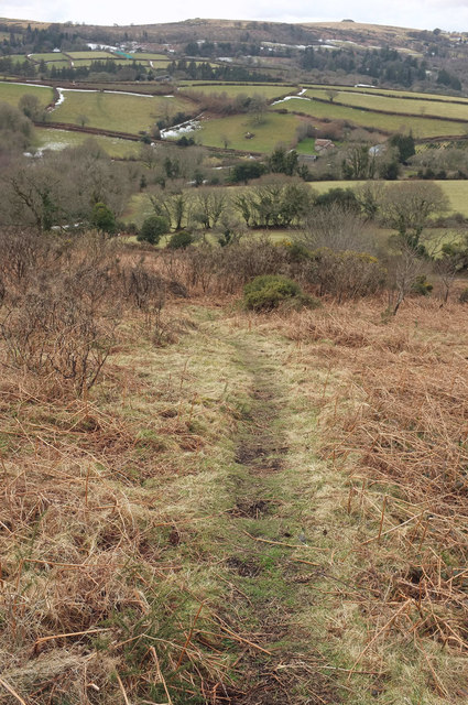 Path down Meldon Hill
