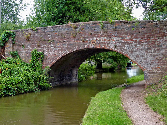 Bridge No 79 at Whittington in Staffordshire