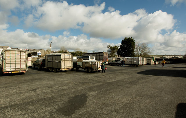 Transport at the South Molton Livestock Market
