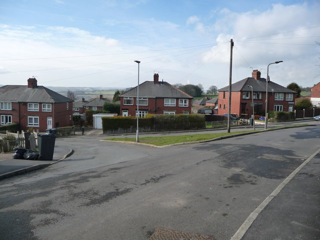 Junction of Holgate Mount and Lock Avenue, Ward Green