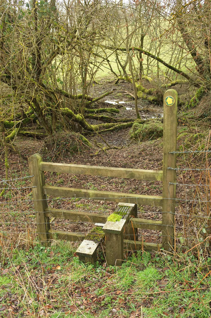 Stile on Hittisleigh footpath 6