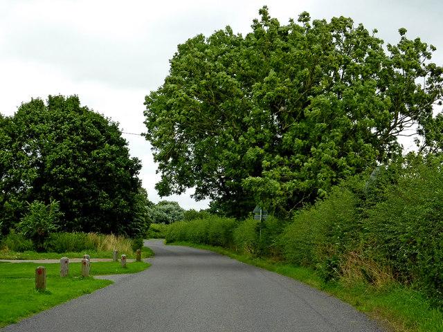 Burton Road north of Whittington in Staffordshire