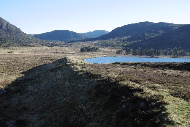 Dam, Loch Monaghan by Richard Webb