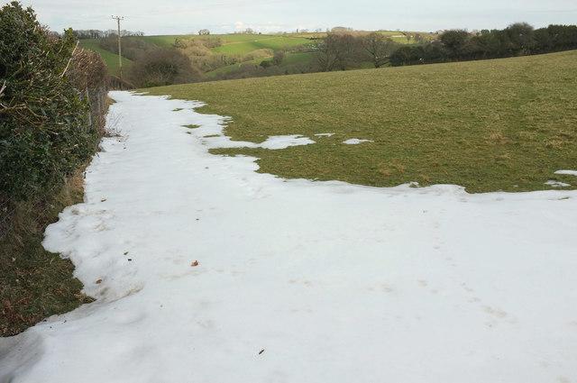 Snow north of Hook Farm