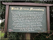 SO5140 : Sign at Black Friars Monastery (Hereford) by Fabian Musto