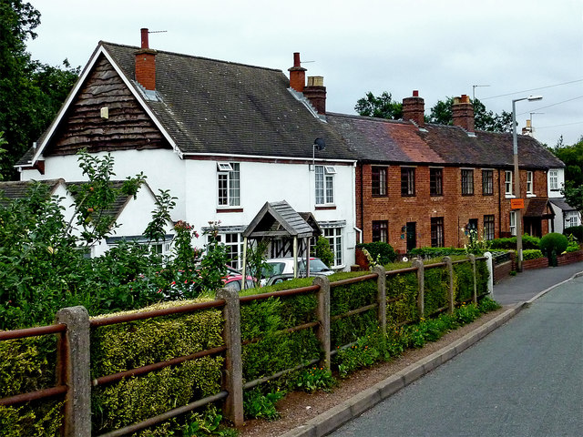 Housing in Burton Road, Whittington, Staffordshire