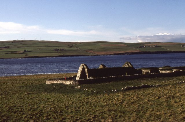 View from Eynhallow to Mainland Orkney