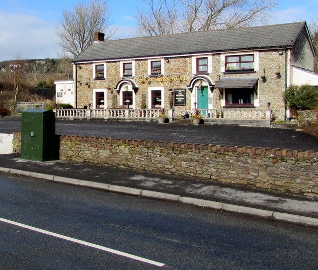 BT telecoms cabinet near the Ship Aground Inn, Pembrey