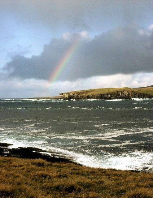 Rainbow over Scabra Head, Rousay