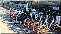 NZ2467 : Mobikes at Ilford Road Metro station by Chris Morgan
