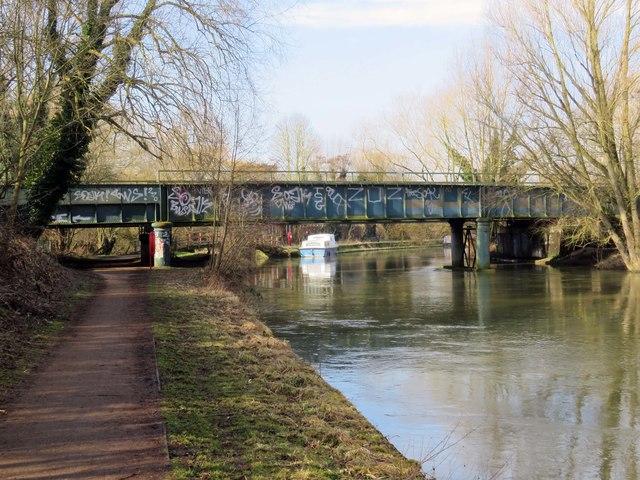 Osney Rail Bridge over the River Thames