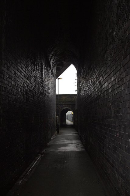 Under the disused Holbeck viaduct