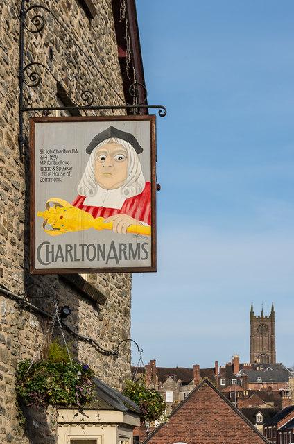 Pub sign, Charlton Arms