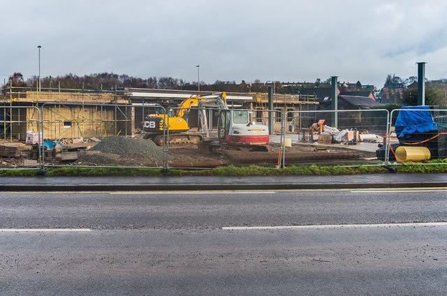 Petrol station, Coronation Avenue - under construction