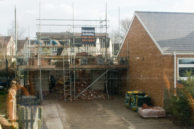 An old telephone exchange being converted into a dwelling