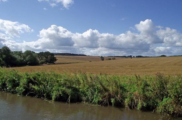 Staffordshire farmland south-east of Whittington