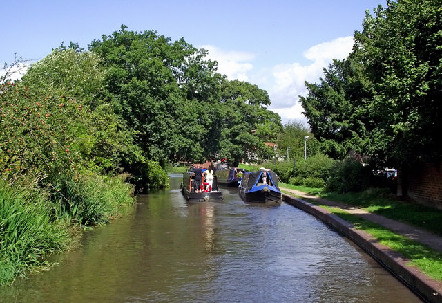 Canal in Hopwas, Staffordshire