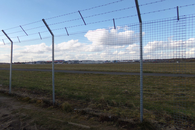 Perimeter fence at London Luton Airport