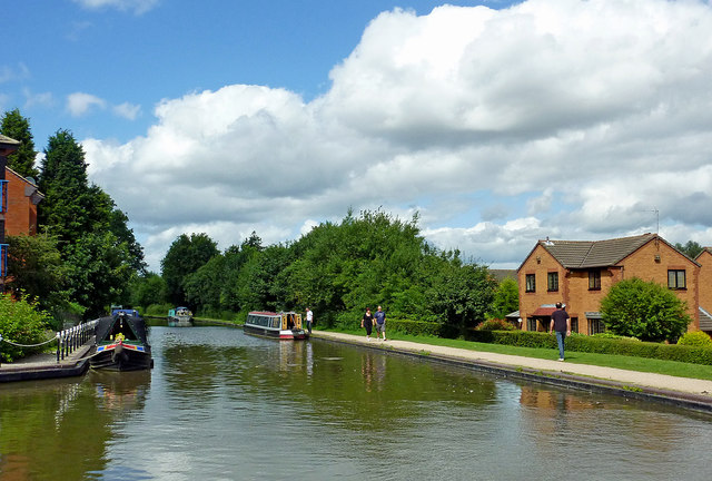 Canal near Fazeley Junction in Staffordshire