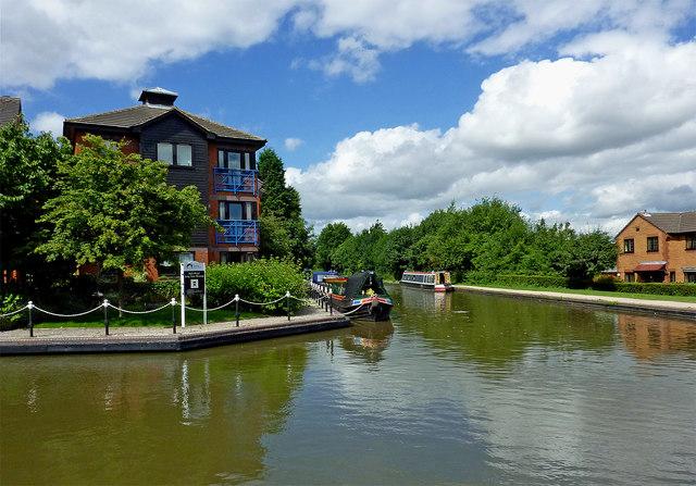 Canal near Fazeley Junction in Staffordshire