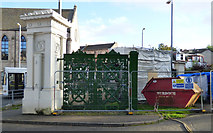 NS2776 : Greenock Cemetery Gates renovation by Thomas Nugent