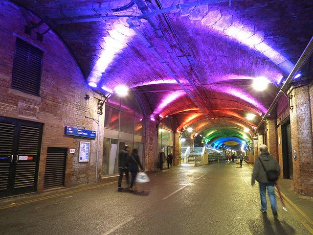 Dark Neville Street, under Leeds railway station