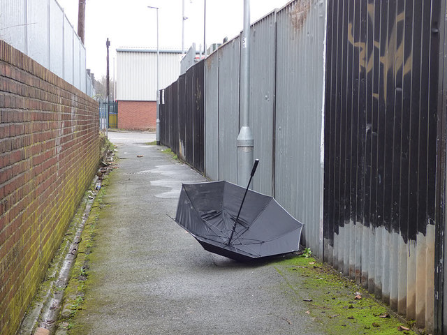 Discarded umbrella, Union Place