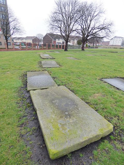 Grave slabs in St Matthew's churchyard