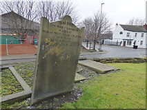 SE2932 : Grave of Sarah Craven in St Matthew's churchyard by Stephen Craven