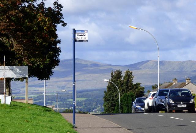 Bus stop on Auchenbothie Road
