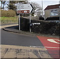 SN4201 : Direction and distance sign on a Pembrey corner by Jaggery