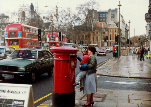 Around Parliament Square in the 80s