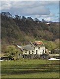 SK2276 : Old farm buildings  between Eyam and Stoney Middleton by Neil Theasby