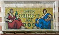 SE2934 : Leeds College of Art Mosaic by Gerald England