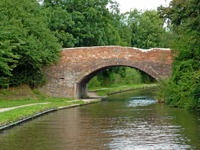 Bridge No 75 near Kettlebrook in Staffordshire