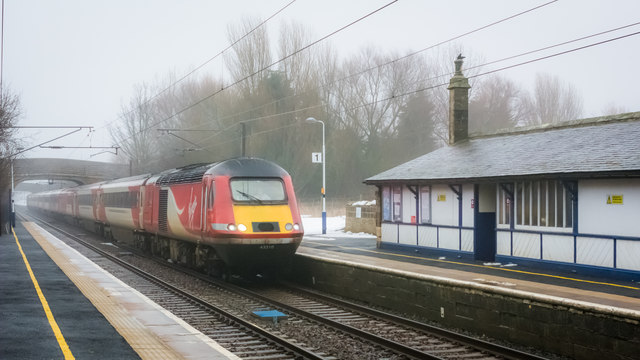 Highland Chieftain passing through Acklington Station